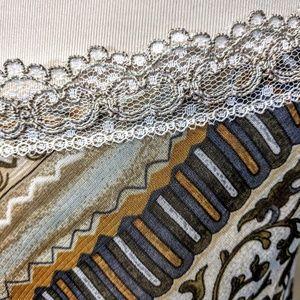 Vintage Dresses - Bias Cut Lace Trim Midi Dress
